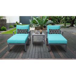 Lexington 5 Piece Outdoor Aluminum Patio Furniture Set 05b in Aruba - TK Classics Lexington-05B-Aruba