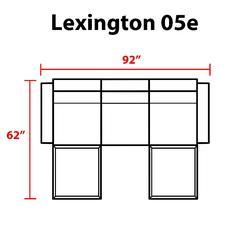 Lexington 5 Piece Outdoor Aluminum Patio Furniture Set 05e in Beige - TK Classics Lexington-05E-Beige