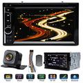 """Double Din Car Radio with Reverse Camera for Ford F250 Super Duty 2004-2016, with Mirrorlink Bluetooth Subwoofer Control Steering Wheel Control AM FM DVD Player 6.2"""" Touchscreen + Remote Control"""