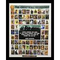 Black 1.5 inch Framed with The Great Wall of Legends, (Legends/History/African American Black Art / 3 J-22x28-16) 22x28 Inch MADELA, Art Print & Poster