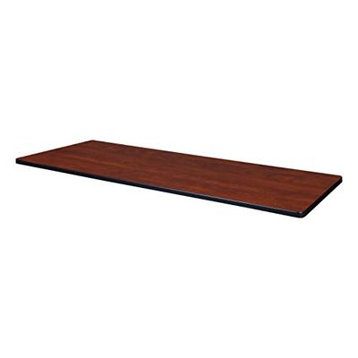 """60"""" x 24"""" Rectangle Laminate Table Top- Cherry/Maple"""
