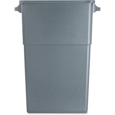 """Genuine Joe 60465 Waste Container, 23 Gallon, 22-1/2""""W x 11""""D x 30"""", Gray"""
