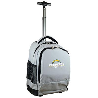 Denco NFL Los Angeles Chargers Expedition Wheeled Backpack, 19-inches, Gray