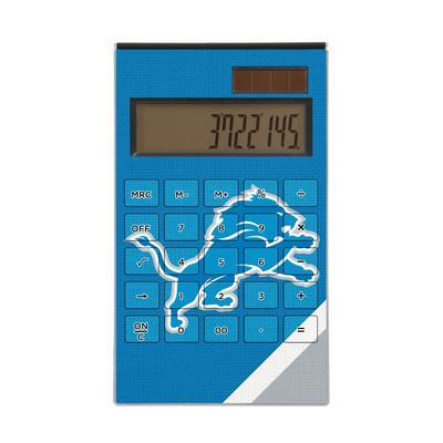 Detroit Lions Diagonal Stripe Desktop Calculator