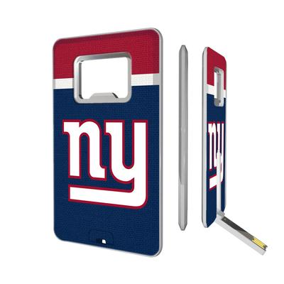 New York Giants Striped Credit Card USB Drive & Bottle Opener
