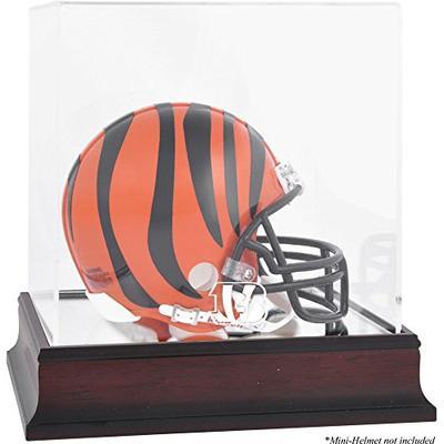 Cincinnati Bengals Mahogany Mini Helmet Logo Display Case