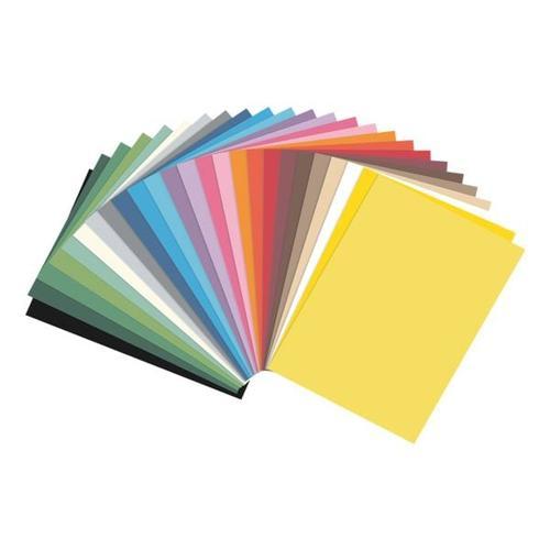 Tonpapier mit 25 Farben, folia, 21x29.7 cm
