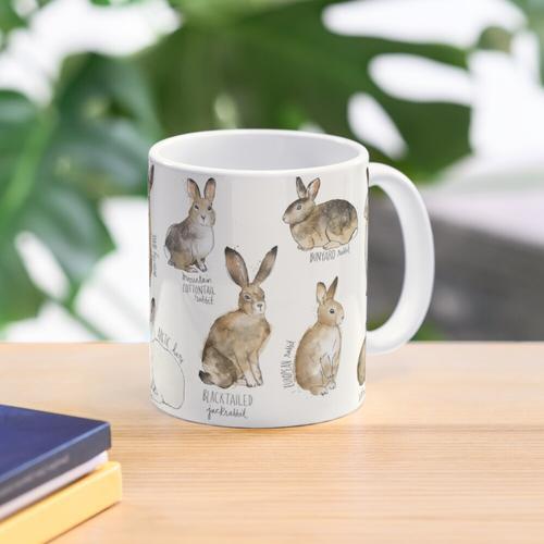 Kaninchen und Hasen Tasse