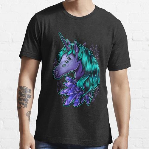 Kristall Einhorn Essential T-Shirt