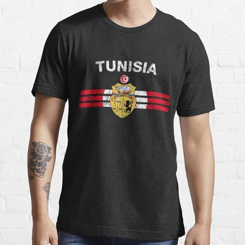 Tunesisches Flaggen-Hemd - tunesisches Emblem-u. Tunesien-Flaggen-Hemd Essential T-Shirt