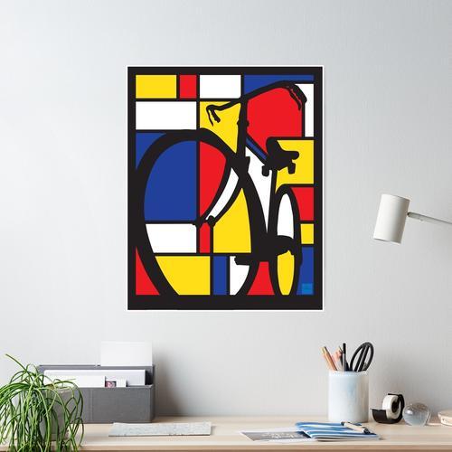Mondrian Fahrradkunst Poster
