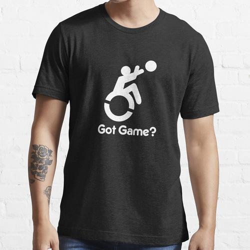 Rollstuhl Basketball Spiel bekommen? Rollstuhlsport Essential T-Shirt