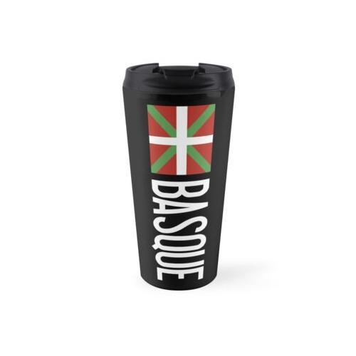 Baskenland: Baskische Flagge und Baskisch Thermosbecher