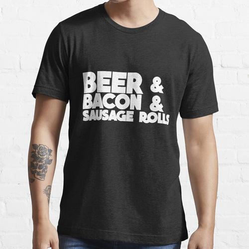 Bier & Bacon & Wurst Brötchen Essential T-Shirt