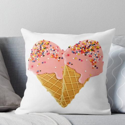 Eiscreme-Herz-Eiscreme-Liebhaber-Muster Kissen