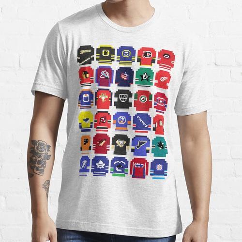 8-Bit Hockey Trikots Essential T-Shirt