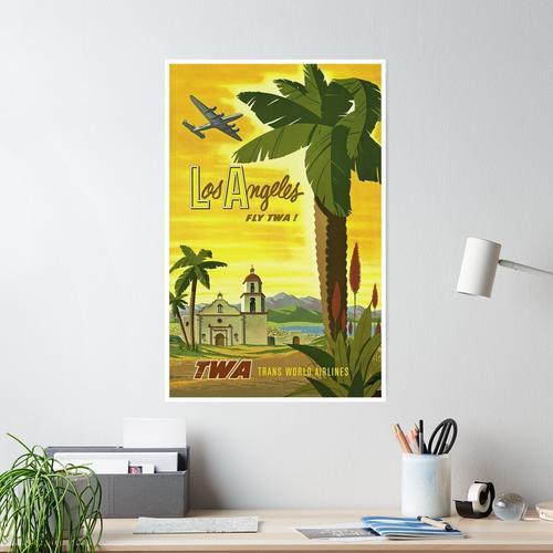 Weinlese-Los Angeles-Reise-Plakat Poster