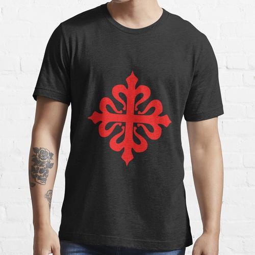 Calatrava Calatrava Kreuz Kreuz rot auf schwarz Essential T-Shirt