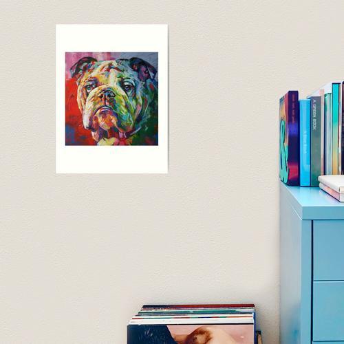 Acryl auf Leinwand. Kunstdruck