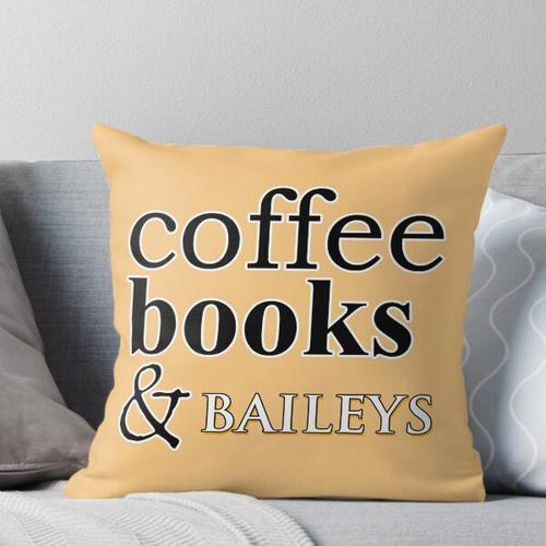 Kaffee Bücher & Baileys Kissen