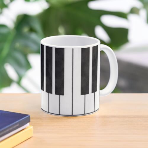 Klaviertasten in der Tonart von mir! Tasse