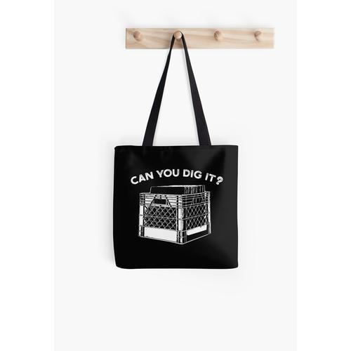 Kannst du es graben Musik Vinyl-Schallplatten Kiste Tasche