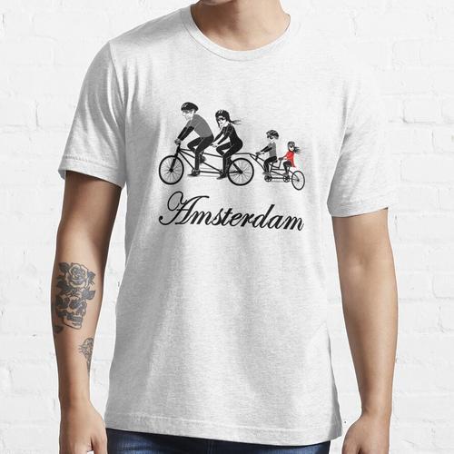 Amsterdam Niederländisch Holland Niederlande Fahrrad Essential T-Shirt