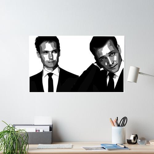 Anzüge - Mike Ross & Harvey Spectre Poster