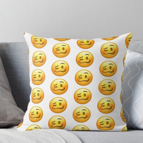 wackeliges Gesicht Emoji Kissen