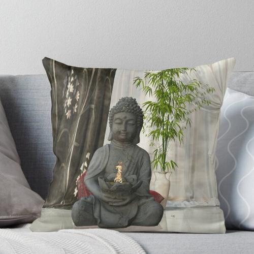 Buddha im Wohnzimmer Kissen
