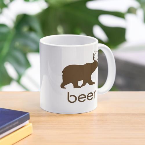 Bier-Bär und Rotwild-Kaffee-Tasse Tasse