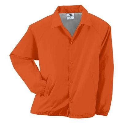 Augusta Sportswear Unisex-Adult Nylon Coach's Jacket/Lined, Orange, X-Large