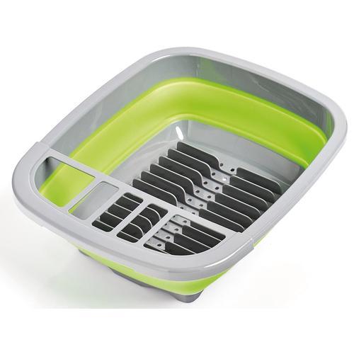Zeller Present Geschirrständer, faltbar grün Küchenaccessoires Wohnaccessoires Geschirrständer