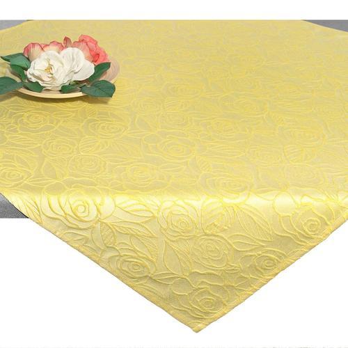 Delindo Lifestyle Mitteldecke ROSENZAUBER, Druckdesign, Fleckschutz, 210 g/m² gelb Mitteldecken Tischwäsche
