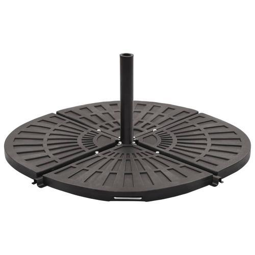 vidaXL Sonnenschirm-Gewichtsplatte Schwarz Fächerförmig 14 kg