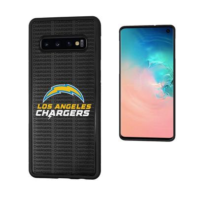 Los Angeles Chargers Galaxy Text Backdrop Design Bump Case