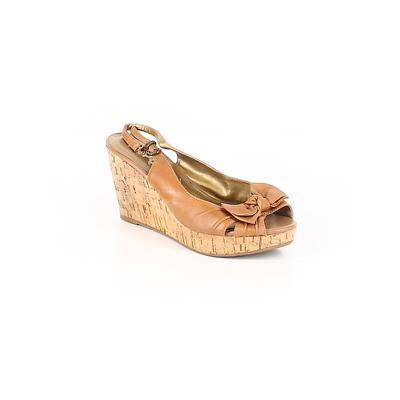 REPORT - REPORT Wedges: Brown Shoes - Size 9 1/2