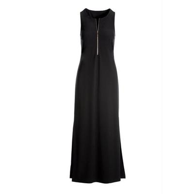 Boston Proper - Beyond Travel Zipper Maxi Dress - Jet Black - Medium