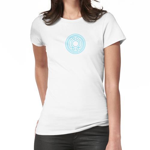 Blaue Laterne Glühen Frauen T-Shirt