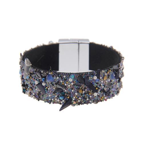 leslii Armband, mit Magnetschließe grau Damen Armbänder Schmuck Armband