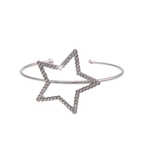 leslii Armband, mit Strass-Stern silberfarben Damen Armbänder Schmuck Armband