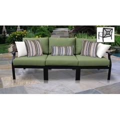 kathy ireland Homes & Gardens Madison Ave. 3 Piece Outdoor Aluminum Patio Furniture Set 03c in Forest - TK Classics Madison-03C-Cilantro