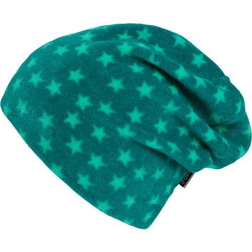 Fleece-Beanie Stern, grün, Gr. 50/52