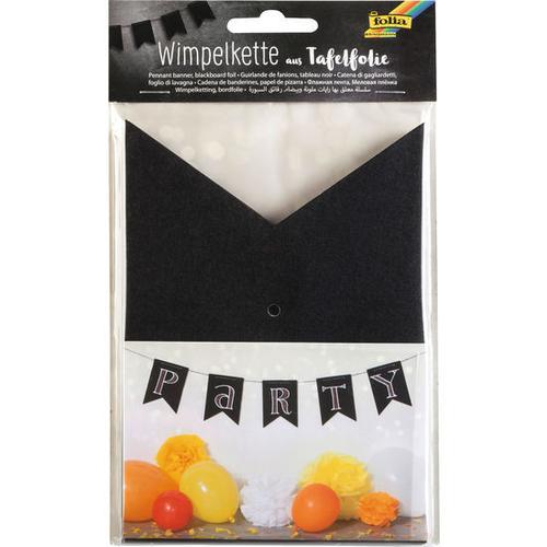 JAKO-O Wimpelkette Tafelfolie, schwarz