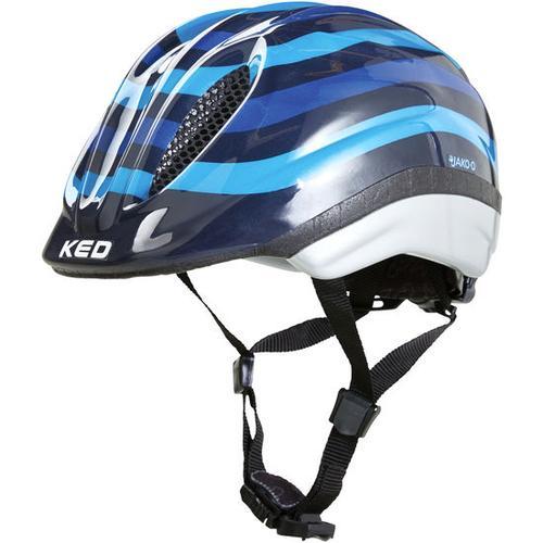 JAKO-O KED Fahrradhelm Streifen, blau, Gr. 52/58