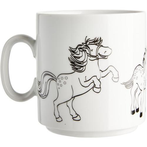 JAKO-O Ausmaltasse Pferde, weiß
