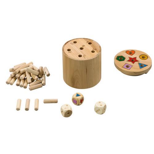 JAKO-O Super Six Holzwürfel, bunt