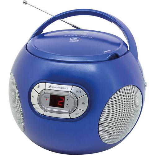 CD-Player mit UKW-Radio + Hörbuchfunktion, blau