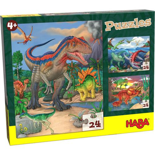 HABA Puzzles Dinosaurier, bunt