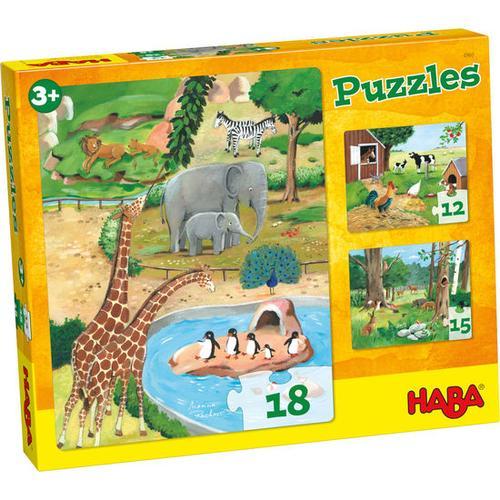 HABA Puzzles Tiere
